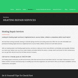 Heating System Repair and maintenance Services