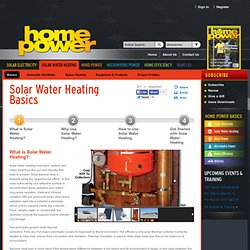 Solar Water Heating System Basics