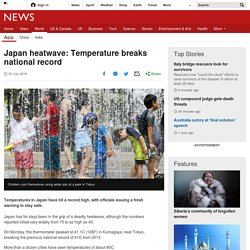 Japanese Heatwave Breaks National Record
