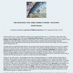 The Heavenly Veil Torn: Cosmic Symbolism in the Gospel of Mark