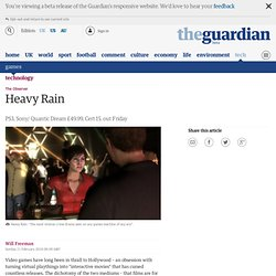 Heavy Rain | Game review | Technology | The Observer