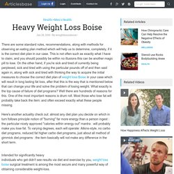 Heavy Weight Loss Boise