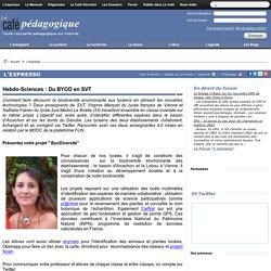 Hebdo-Sciences : Du BYOD en SVT