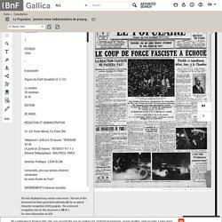"""Le Populaire : journal-revue hebdomadaire de propagande socialiste et internationaliste [""""puis"""" socialiste-internationaliste]"""