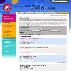 HebdoPresse - Actualité économique - Le portail des entreprises de Midi-Pyrénées