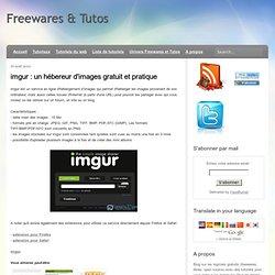 imgur : un hébereur d'images gratuit et pratique