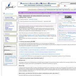 FAQ : hébergement des développements logiciels de laboratoire : forges