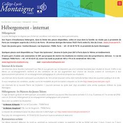 Hébergement - internat - LYCEE MONTAIGNE PARIS