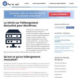 La Vérité sur l'Hébergement Mutualisé pour Wordpress