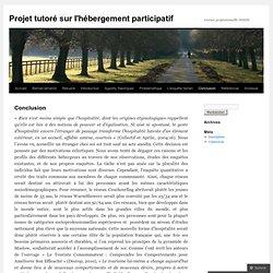 Projet tutoré sur l'hébergement participatif