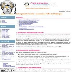 Hébergement d'un site, bande passante, requêtes, ... toutes les options de l'hébergeur