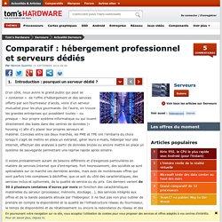 Comparatif : hébergement professionnel et serveurs dédiés