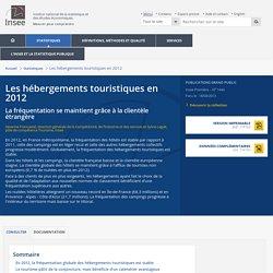 Services-Tourisme-Transports - Les hébergements touristiques en 2012 - La fréquentation se maintient grâce à la clientèle étrangère