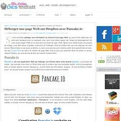 Héberger une page Web sur Dropbox avec Pancake.io