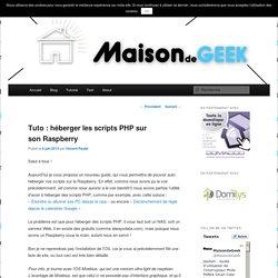 Tuto : héberger les scripts PHP sur son Raspberry