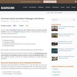 Comment choisir le meilleur hébergeur WordPress