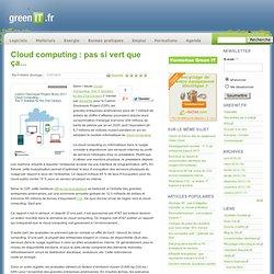 Hébergeur › Cloud computing : pas si vert que ça...