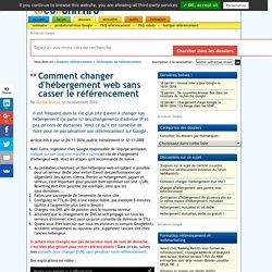 Changer d'hébergeur web sans pénaliser son référencement