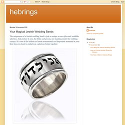 Your Magical Jewish Wedding Bands