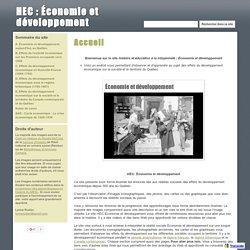HEC : Économie et développement