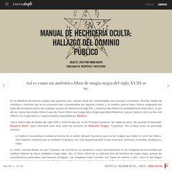 Manual de hechicería oculta: hallazgo del dominio público
