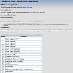 The Heckel Firm - Information and History