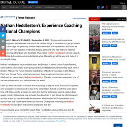 Nathan Heddleston's Experience Coaching National Champions