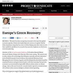 Europe's Green Recovery by Connie Hedegaard