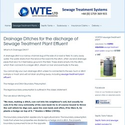 Hedge and ditch rule for draining sewage effluent