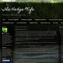 The Hedge Wife: Magical Herbalism Part 1