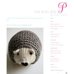 Knit Hedgehogs