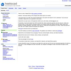 heekscad - Free CAD based on Open CASCADE
