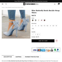 Blue Heels Shoes Online – For Women USA