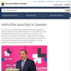 HeForShe launched in Sweden - Government.se