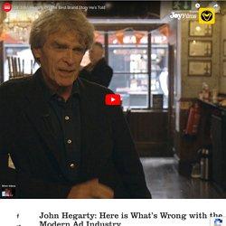 John Hegarty's Strong Take on Creativity in Advertising