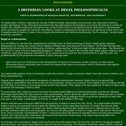 Hegel's Philosophy of History