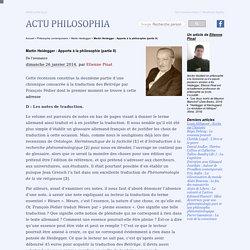 Martin Heidegger : Apports à la philosophie (partie II)
