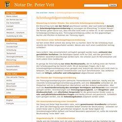 Scheidungsfolgenvereinbarung - Notar Dr. Veit, Heidelberg - Freiberufliches Notariat
