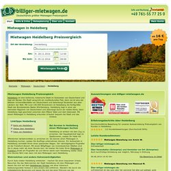 Mietwagen Heidelberg Preisvergleich