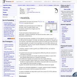 HeidiSql - Base de données