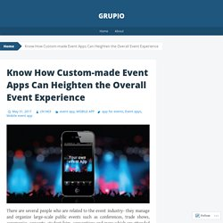 Find the amazing Mobile event app
