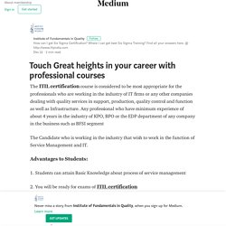 Touch Great heights in your career with professional courses