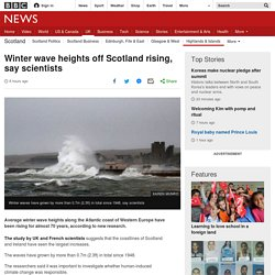 Winter wave heights off Scotland rising, say scientists