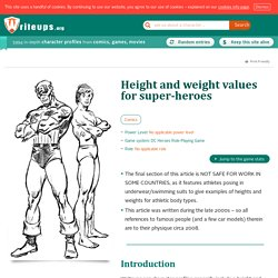 Heroic heights and weights (Body Types)