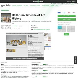 Heilbrunn Timeline of Art History Educator Review