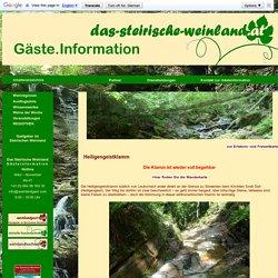Heiligengeistklamm in Schlossberg bei Leutschach