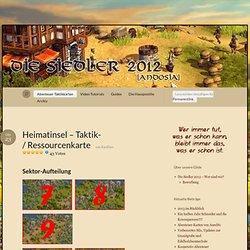 Heimatinsel – Taktik- / Ressourcenkarte « Die Siedler 2012