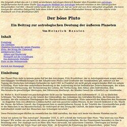 Heinrich Bessler - Der böse Pluto