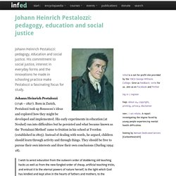 Johann H. Pestalozzi and informal education