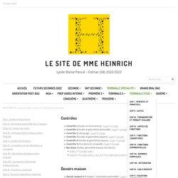 Le site de Mme Heinrich